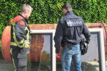 Brandweer en politie oefening